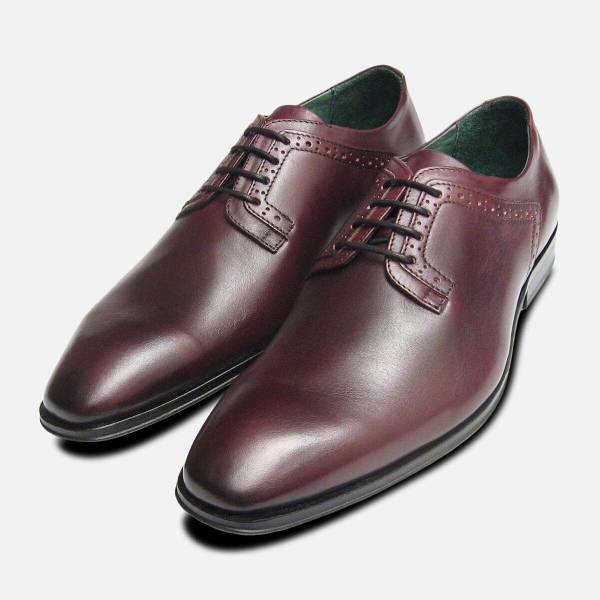Burgundy Formal Mens Exceed schuhe