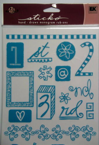 72 Rub-On Transfers Numbers and Lots more  Turquoise  EKSuccess  NIP