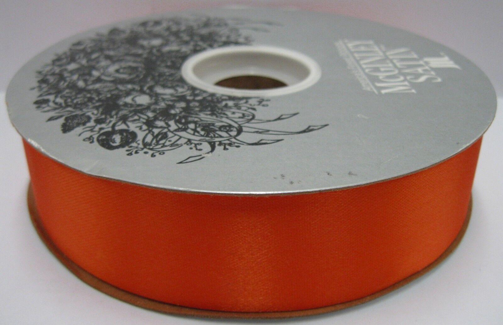 Vans 100 yds yds yds of Größe 9 Orange Acetate Satin Ribbon (282229-035) cdf059