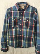 HOLLISTER Men's Plaid/Checkered Button Front Shirt /Size M Medium