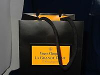 Brand Veuve Clicquot High Quality Black Champagne Sleeve Bag 15.75 Tall