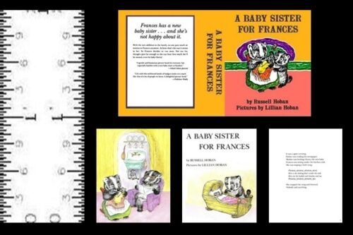 112 SCALE MINIATURE BOOK A BABY SISTER FOR FRANCES DOLLHOUSE SCALE