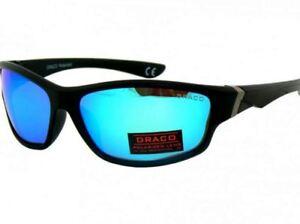 Mens Dark Wrap Around Designer Sports Biker Ski Fishing Black Sunglasses Eyewear - Gizycko, Polska - Zwroty są przyjmowane - Gizycko, Polska