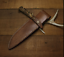 knife-blade-sheath-cover-scabbard-case-bag-cow-leather-customize-brown-Z997 thumbnail 1