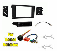 Car Stereo Radio Install Dash Mount Face Trim Kit Combo for 2000-2003 Audi A6