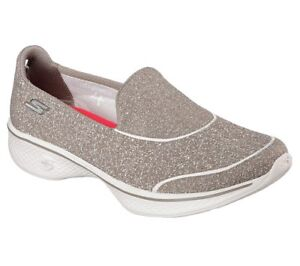 New-Womens-Skechers-GoWalk-4-Super-Sock-4-Shoes-Style-14161-Taupe-70B-dr