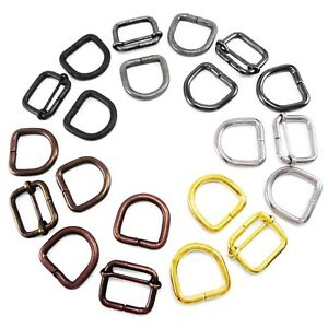 Rings D half-round ring loops several sizes 25 mm,30 mm,35 mm,strap rings,Lot of 10