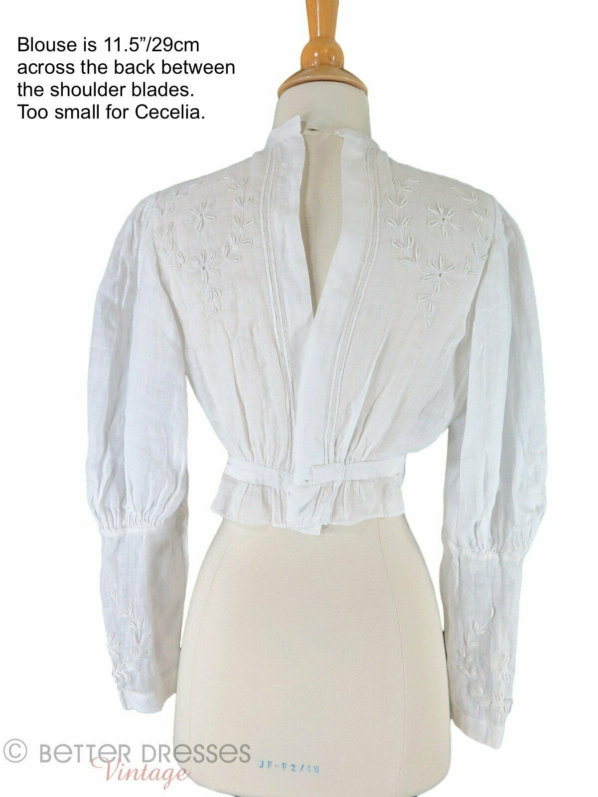 Antique Embroidered Blouse - xs, sm - image 6