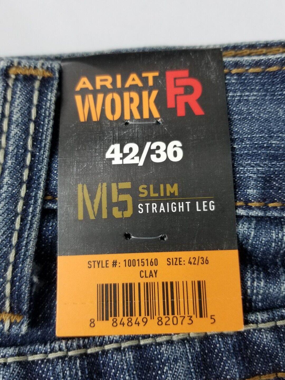 ba537f6a90d Ariat Western Denim Jeans Mens M5 Slim Straight 42 X 36 Clay ...