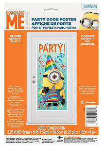 Image Is Loading Despicable Me Minion Door Decorations Happy Birthday Party