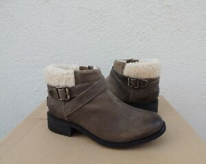 3538a036b2a Details about UGG BENSON DOVE LEATHER/ SHEEPWOOL CUFF LINED BOOTS, US 8.5/  EUR 39.5 ~ NIB