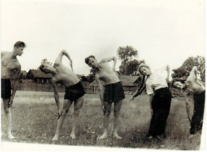 Two-1960-039-s-Soviet-photos-Young-people-in-the-village-perform-physical-exercises