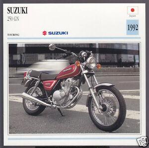 1992 suzuki 250cc gn 249cc japan bike motorcycle photo spec info stat card ebay. Black Bedroom Furniture Sets. Home Design Ideas