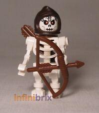 Lego Custom Esqueleto Archer Minifigura Con Capucha, Arco + Carcaj Nuevo cus050