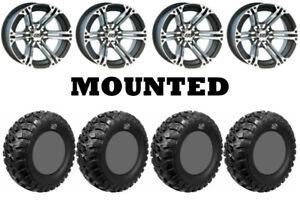 Kit 4 GBC Kanati Mongrel Tires 26x10-12 on ITP SS212 Machined Wheels CAN