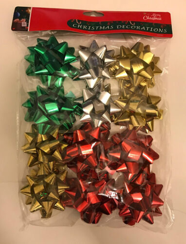 Peel and Stick,Multi Color Gift decorating Christmas 12 Designer Bows Ribbons