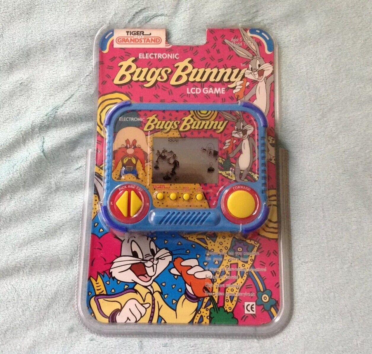 Vintage 1992 Tiger tribuna electrónica Bugs Bunny LCD Juego Con Pilas