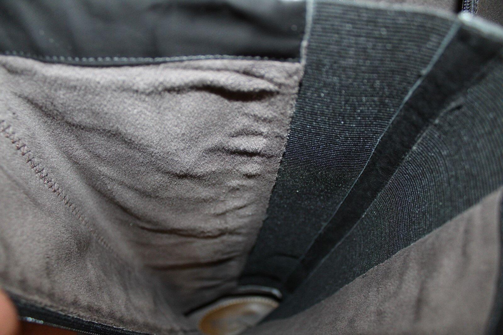 Regarde le ciel Mujer botas botas botas Altas Talla 7.5-8 39 De Cuero Negro Hebilla lateral de cremallera completa 5481ea
