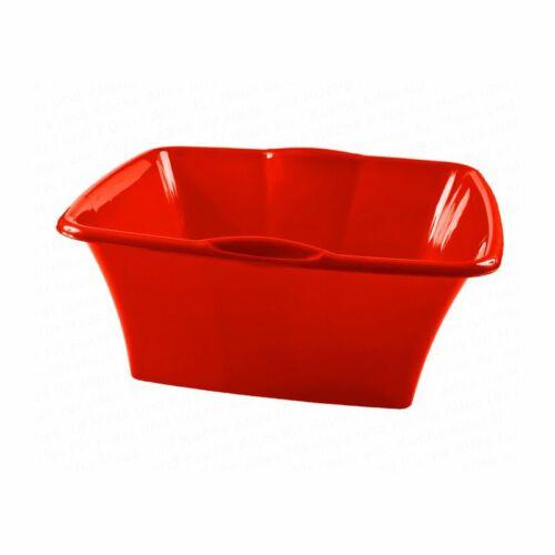 Camping-Waschbecken Centi Spülschüssel 14,5 Liter Schüssel rechteckig 40x40x18 cm rot