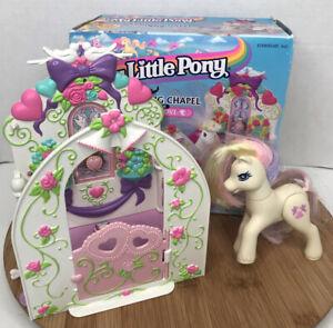 My-Little-Pony-Dainty-Dove-Wedding-Chapel-1997-Vintage-Play-Set-and-Box-Hasbro