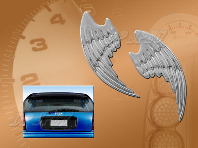 3D Silver Angel Wings Body Door Trunk Emblem Decal Decorative Car Truck Accent