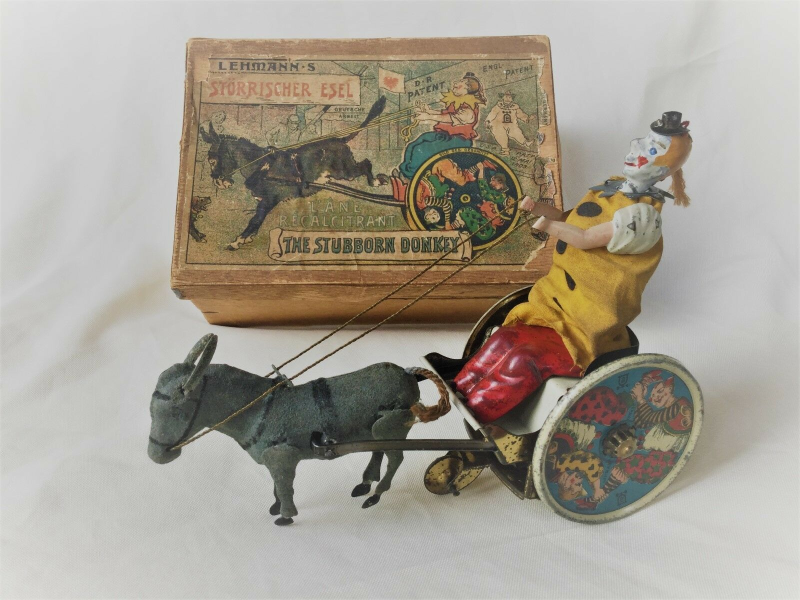 Lehmann No. 425 Sketches Donkey  the stubborn Donkey  TIN TOY BOXED