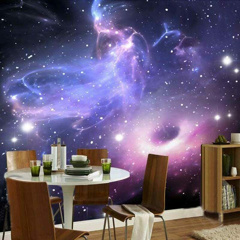 3D Universe Galaxy Stars Space Wall Mural Wallpaper Living Room Bedroom Lounge