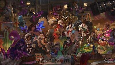Poster 42x24 cm League Of Legends Jhin Poppy Lulu Draven Taric Rakan Annie 01