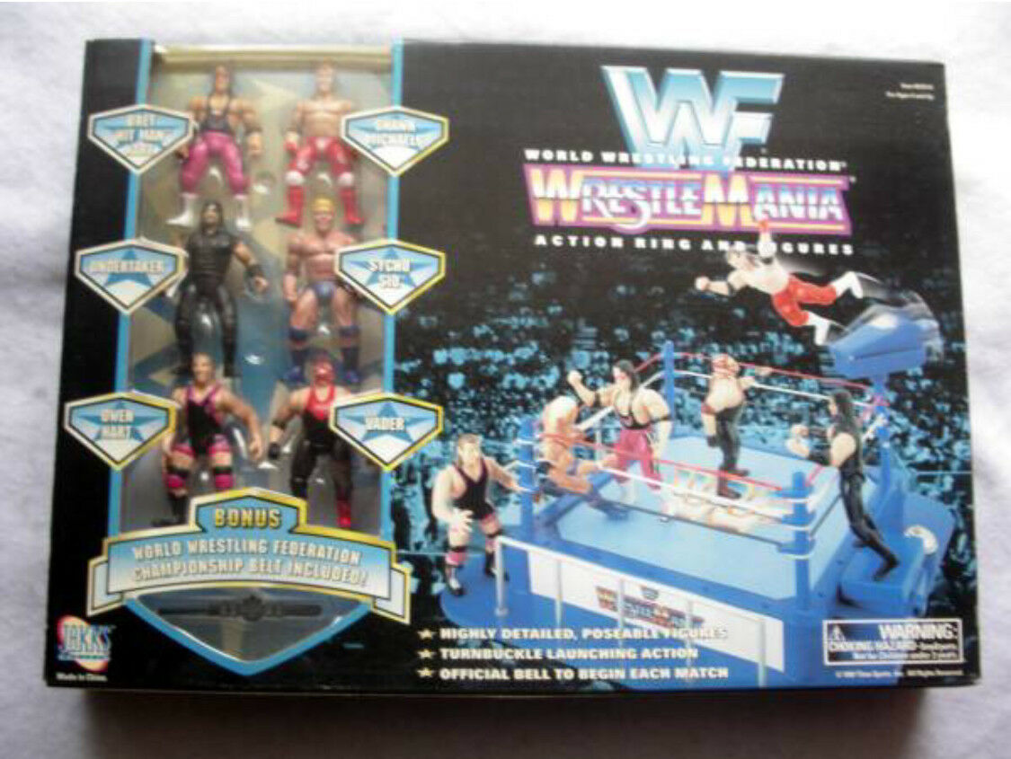 1997 WWF(WWE) WRESTLEMANIA Figure Ring JAKKS