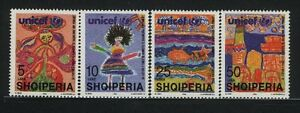 Europe Stamps Albania Mnh Sc 2521-24 Mi 2607-10 Unicef