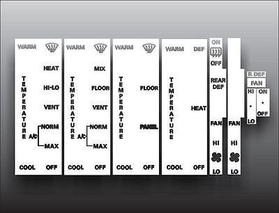 1979-1986 Ford Mustang White Heater Overlay HVAC