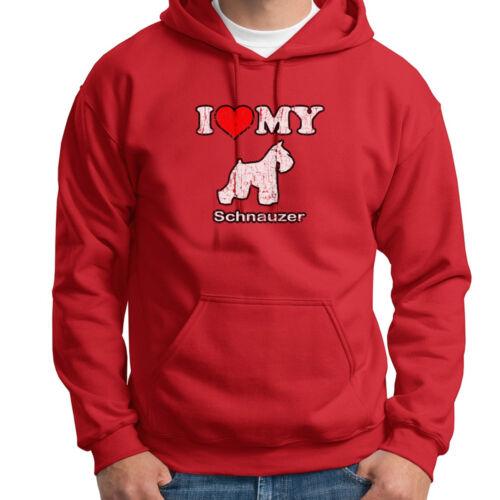 I HEART MY SCHNAUZER Pet Dog T-shirt Love Puppy Breed Hoodie Sweatshirt