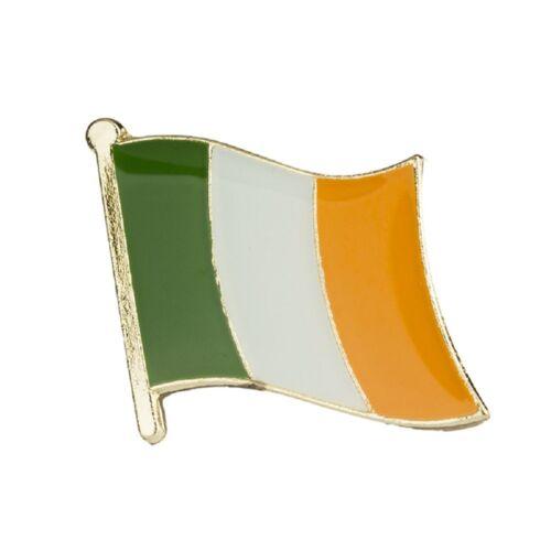 Wholesale Pack of 12 Ireland Country Flag Bike Hat Cap lapel Pin