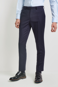 DKNY Mens Navy Stripe Smart Suit Slim Work Trousers 34 Waist 40R £180