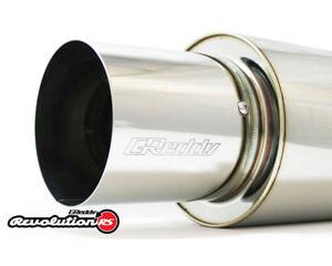 "GReddy 3/"" Universal Revolution RS Muffler 3 Bolt Removable Tip"