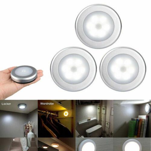 Wireless 6LED PIR Auto Motion Sensor Infrared Night Light Cabinet Stair Lamp AU