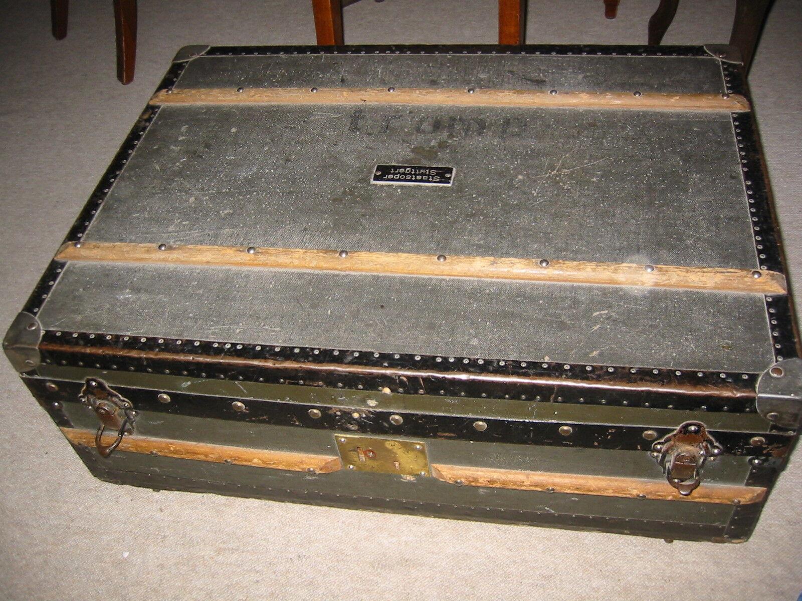 Großer alter Trompeten-Koffer  Staatsoper Stuttgart  f.5 Trompeten  Marstaller