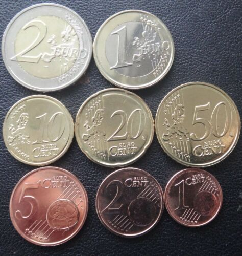 Luxembourg 2019  UNC coin set from 1 cent 2 euro total 8 coins 3,88 euro