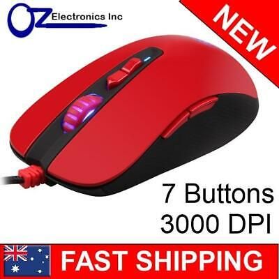 Sades MUSKET Gaming Mouse 7 Button Programmable 3000 DPI Colour LED Brand NEW