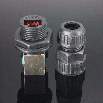 Waterproof IP68 RJ45 Ethernet LAN Network AP Plug Jack Socket Connector In US