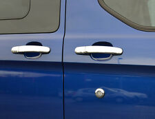 CHROME DOOR HANDLE TRIM SET COVERS SURROUNDS STEEL 5DR FOR FORD TRANSIT 2014+
