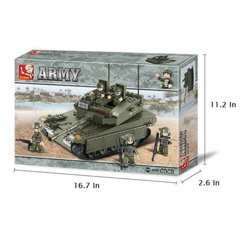 Sluban Merkava Tank WW2 Military Bricks Building Blocks Toy 343 Pieces