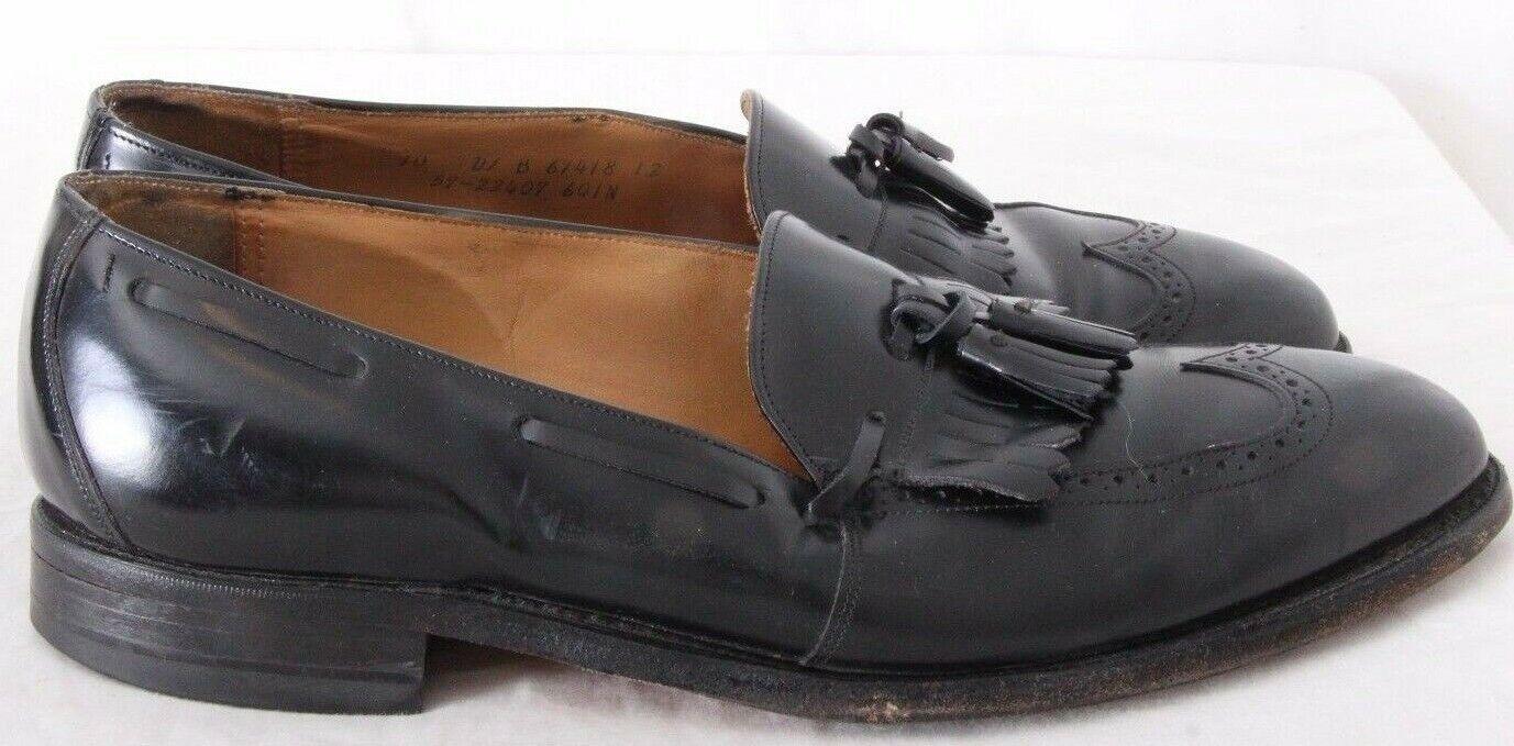 Johnston & Murphy 67418 USA Wing Tip Kiltie Tassel Dress Loafers Men's US 10D