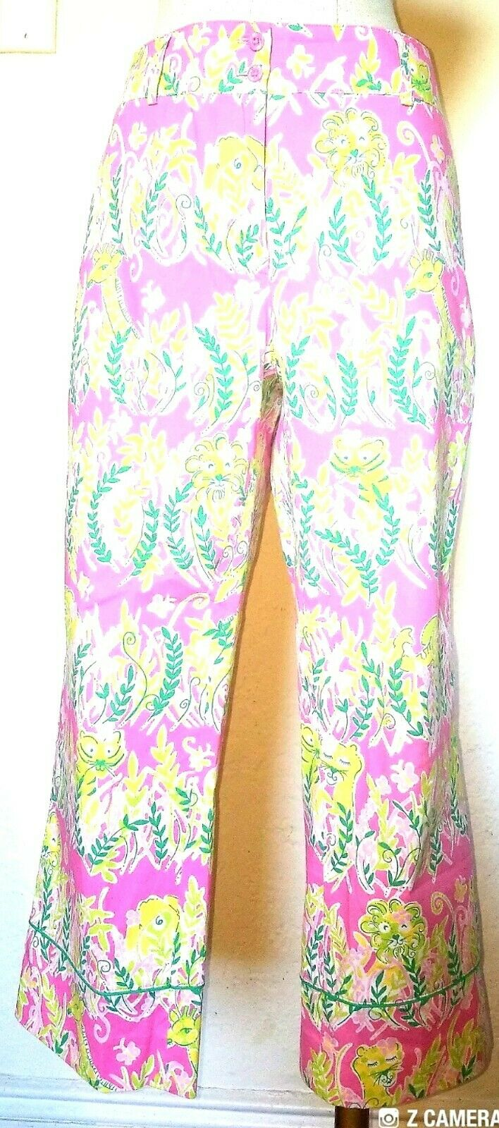 Lilly Pulitzer Animal Print Capri Pants Größe 8