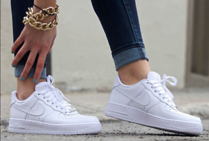 Details about Women's Nike Air Force 1 Low '07 Triple White Womens Size  W5-11, AF1 315115-11