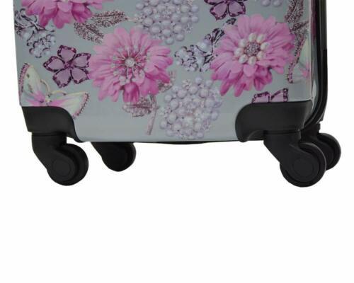Hard Shell Cabin Suitcase 4 Wheel Luggage Trolley Case Lightweight Grey Ryanair