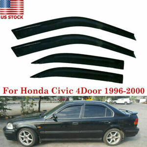 Fits Honda Civic 4DR 1996-2000 AVS Ventvisor Window Visors Rain Deflector Guards