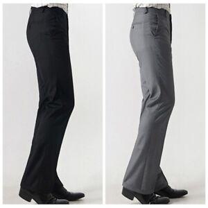 Men-Bell-Bottom-Pants-60s-70s-Retro-Flare-Formal-Dress-Trousers-Slim-Fit-Retro