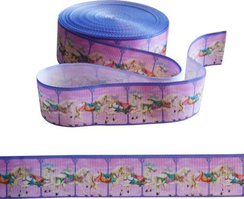 """Caballo de carrusel cinta 1/"""" Ancho Para Pasteles artesanías etc envoltura de regalo 2m"""