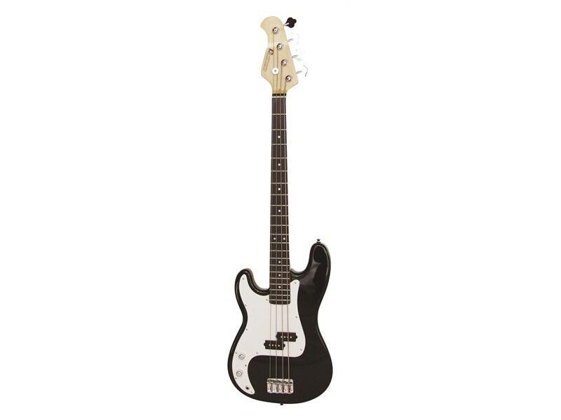 DIMAVERY PB-320 E-Bass LH, schwarz für LINKSHÄNDER
